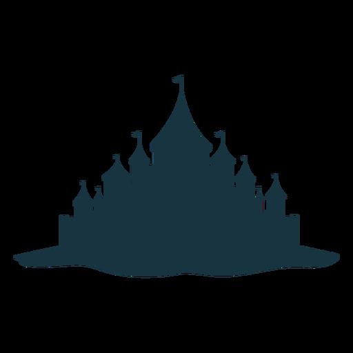 Silhueta da cúpula do telhado da torre do palácio do castelo