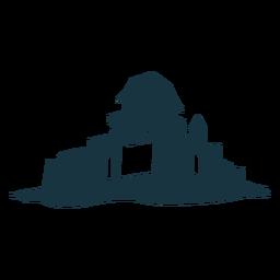 Ausführliches Schattenbild der Schlossturmtor-Dachhaube