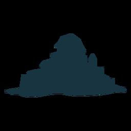 Silhueta da cúpula do telhado do portão da torre do castelo