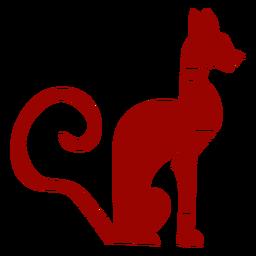 Gato silhueta de padrão de cauda de orelha de focinho detalhada