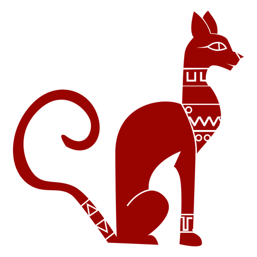 Cat muzzle ear tail pattern detailed silhouette