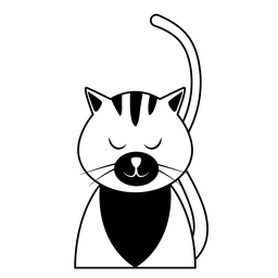 Cat Schnauze Whisker Ohr Schwanz Schlaganfall
