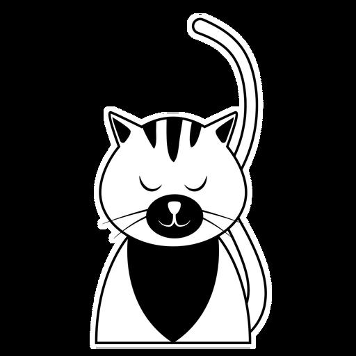 Cat hocico bigote oreja cola cola trazo Transparent PNG
