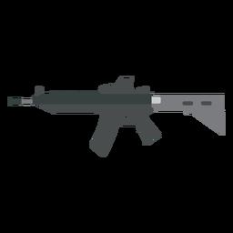 Arma de arma de barril de carregador plana