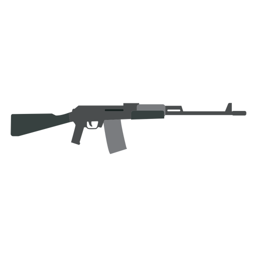 Charger weapon butt submachine gun barrel flat Transparent PNG