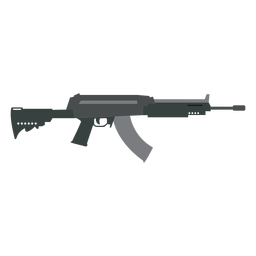 Arma de carregador plana