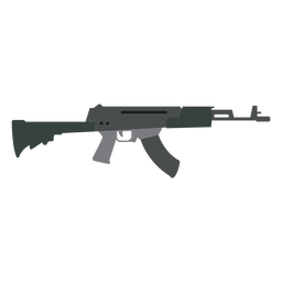 Ladegerät Waffe Maschinenpistole Butt Barrel flach