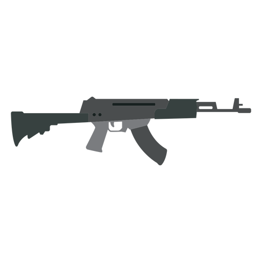 Arma de submetralhadora de arma carregador barril de bunda plana Transparent PNG