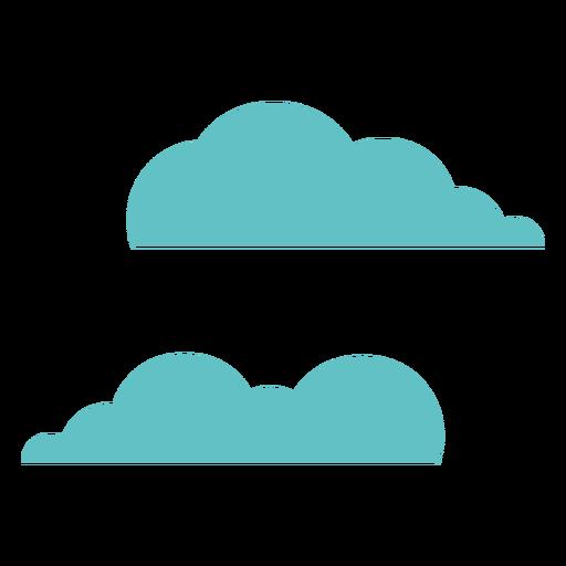 Par de nubes dos planos Transparent PNG