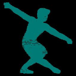Silhueta de balé de postura de dançarina