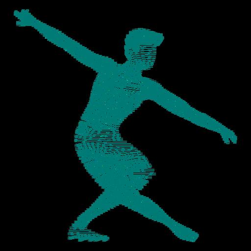 Silhueta de balé de postura de dançarina Transparent PNG