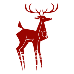 Deer antler hoof tail pattern detailed silhouette