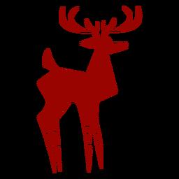 Silueta detallada del modelo de la cola del enganche de la asta de los ciervos