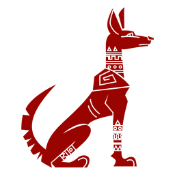 Dog ear tail pattern detailed silhouette