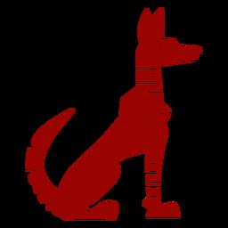 Silhueta detalhada do cão orelha cauda padrão
