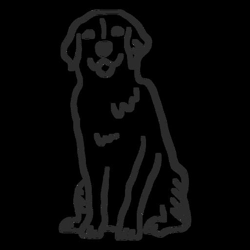 Perro cachorro lengua oreja doodle Transparent PNG
