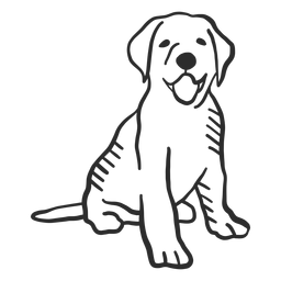 Perro cachorro lengua cola oreja doodle
