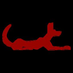 Silhueta detalhada do cão cauda orelha padrão