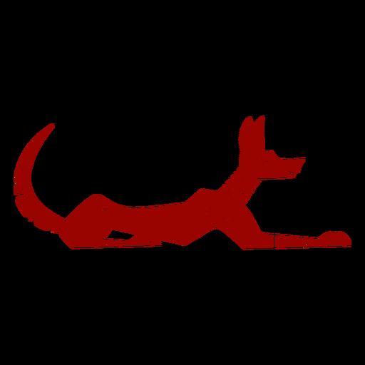 Silhueta detalhada do cão cauda orelha padrão Transparent PNG