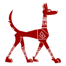Dog tail pattern ear detailed silhouette