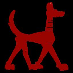 Silhueta detalhada do cão cauda padrão orelha