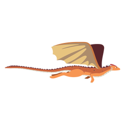 Escamas de cola de ala de dragón volando ilustración