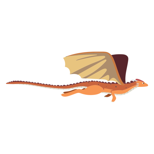 Dragon wing tail scales flying illustration Transparent PNG
