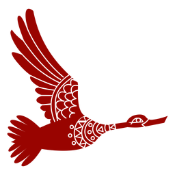 Ausführliches Schattenbild des Entendrake-Wildente-Schnabelflügel-Fliegenmusters
