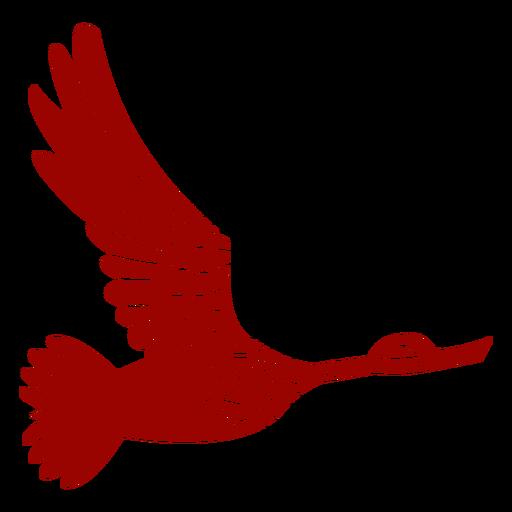 Duck drake pato salvaje ala de pico volando patrón detallado silueta Transparent PNG