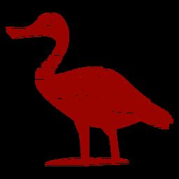 Ausführliches Schattenbild des Entendrake-Wildente-Schnabel-Flügelmusters