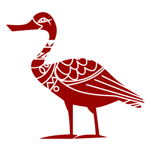 Duck drake wild duck wing beak pattern detailed silhouette