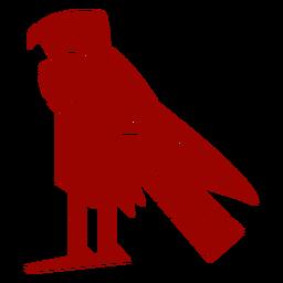 Silueta detallada de águila pico ala garra patrón