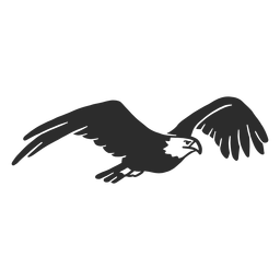 Águila volando pico pico talon doodle