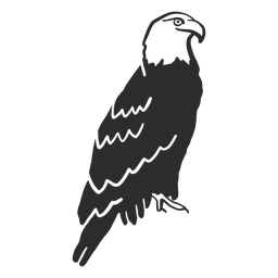 Eagle wing beak talon doodle