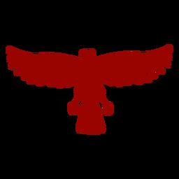 Silueta detallada de ala de águila pico talon patrón