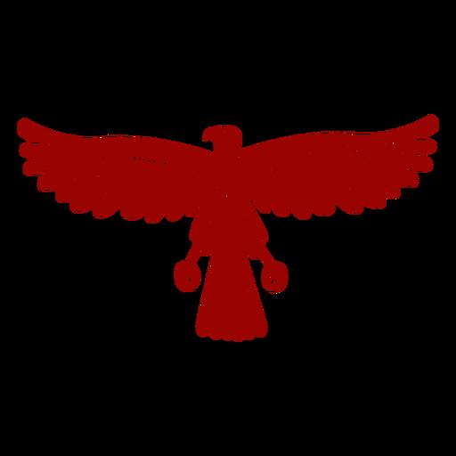 Eagle wing beak talon pattern detailed silhouette Transparent PNG