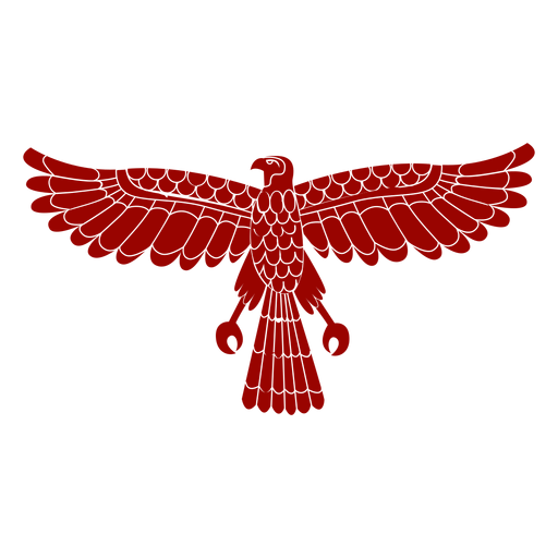 Silueta detallada de ala de águila pico talon patrón Transparent PNG