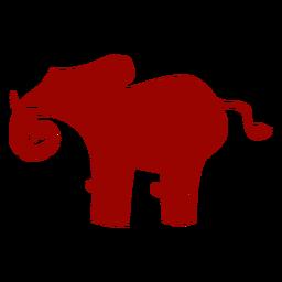 Elefante cola marfil oreja tronco patrón silueta detallada