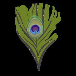 Ilustração de padrão de pavão de penas