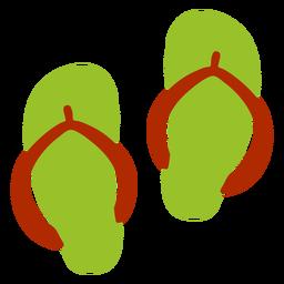 Zapatilla flip flop mula zapatilla plana