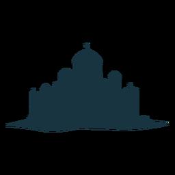 Fortaleza, citadel, stronghold, torre, portão, telhado, cúpula, silueta