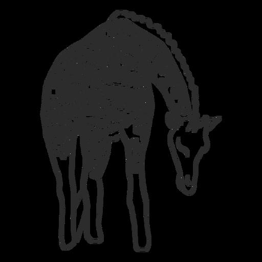 Giraffe spot neck ossicones doodle Transparent PNG
