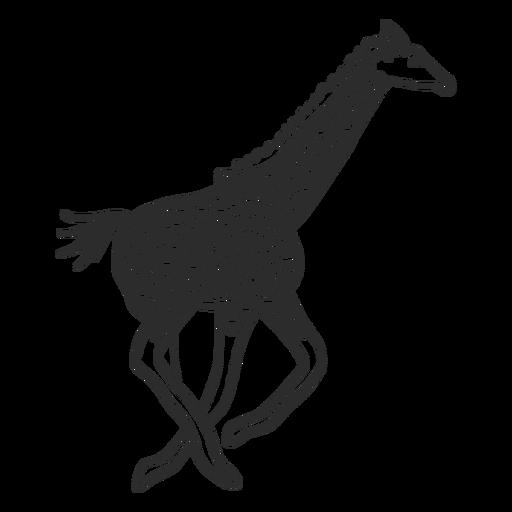 Laufendes Gekritzel des Giraffenstellenhalsossicones-Endstücks Transparent PNG