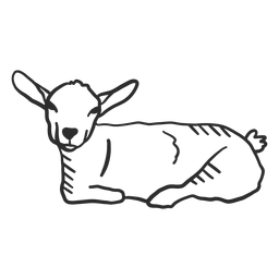 Goat tail ear doodle