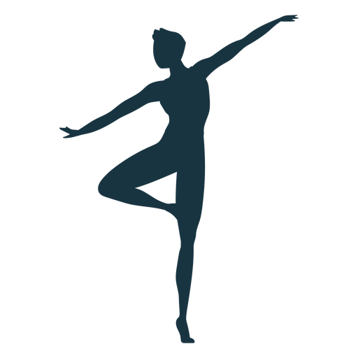 Grace ballet dancer posture silhouette Transparent PNG