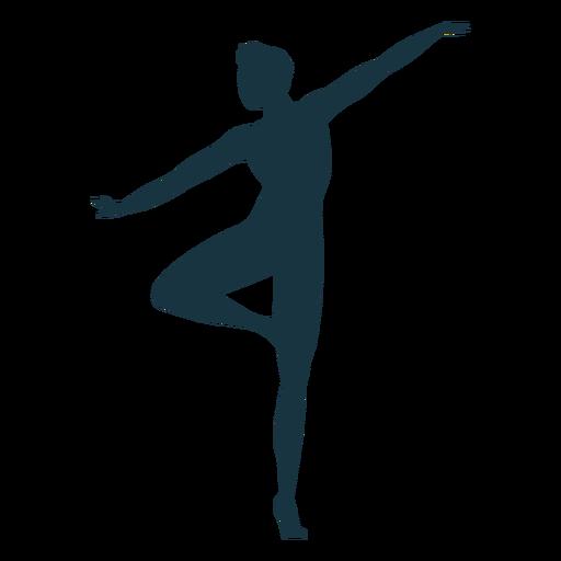 Silhueta de postura da dançarina de balé Grace