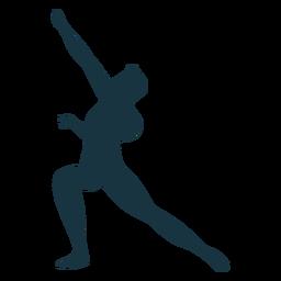 Silhueta de dançarina de balé de postura de graça