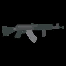Pistola arma cañón trasero plano