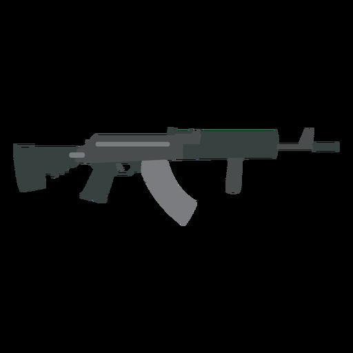 Gun weapon barrel butt flat