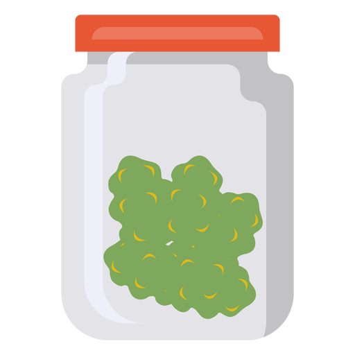 Jar glass grass marijuana flat Transparent PNG